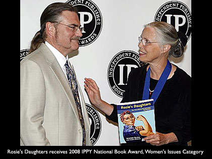 Rosies Daughters Author Matilda Butler receiving IPPY Award - RosiesDaughters.com