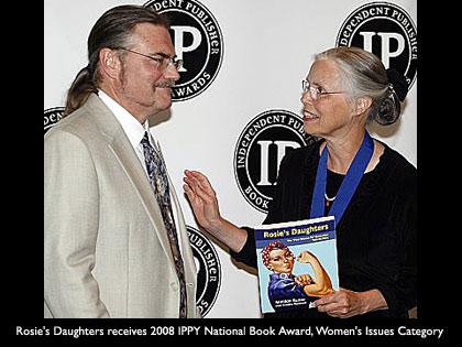 Rosies Daughters Author Matilda Butler receiving IPPY Award - RosiesDaughters.com