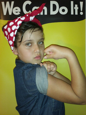 Casie Ziegler showing the strength of women