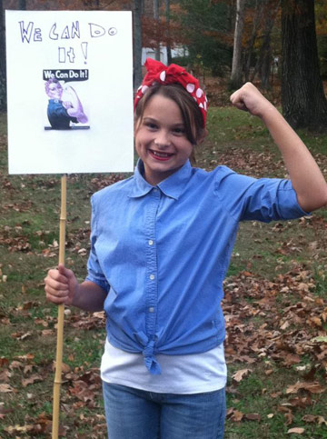2012-rosie-haley-sm A Budding Activist and Rosie the Riveter