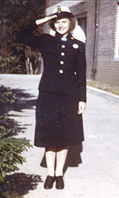 My Mother, Genevieve Zelenak, at the Coast Guard Academy in New London, CT Summer 1943