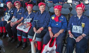 Rosie the Riveters at the Rosie the Riveter World War II Home Front National Historic Park in Richmond, CA