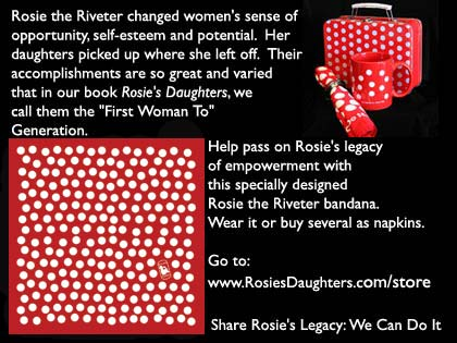 Rosie the Riveter's Bandana With Mug - RosiesDaughters.com